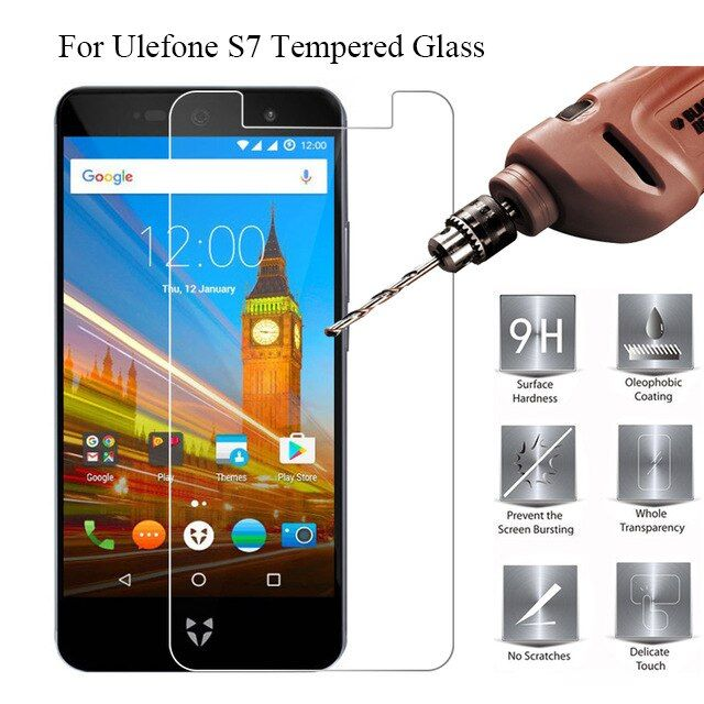 For Ulefone S7 Tempered Glass 9H 2.5D 100% High Quality Screen Protector Film For Ulefone S7 Mobile Phone Glass Protective Flim