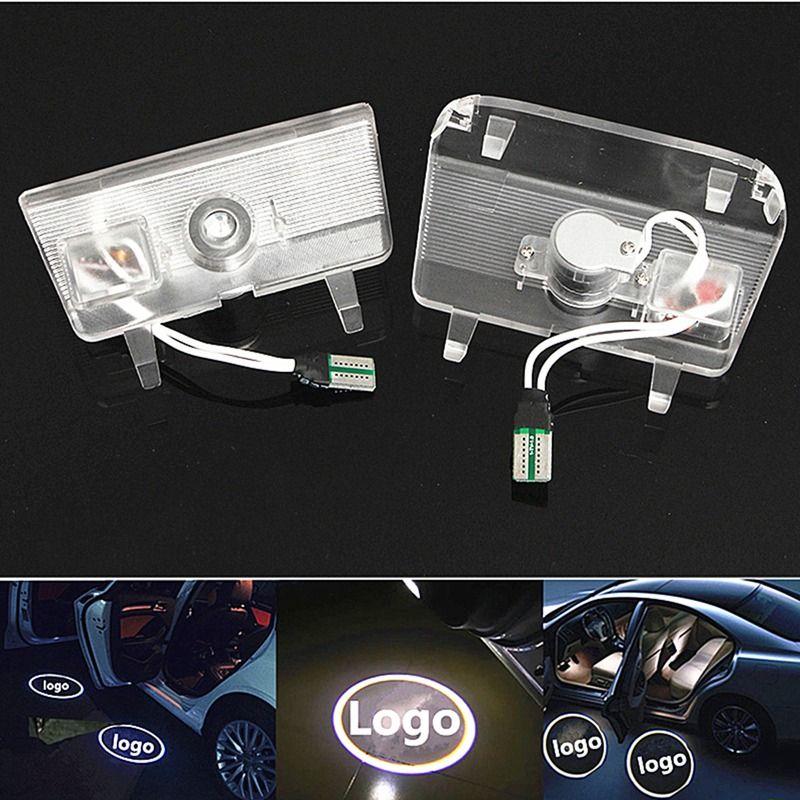 2Pcs LED Car Door Welcome Light Ghost Shadow Laser Projector Logo/Emblem Courtesy Step Lights For Mazda 6 2014-2016