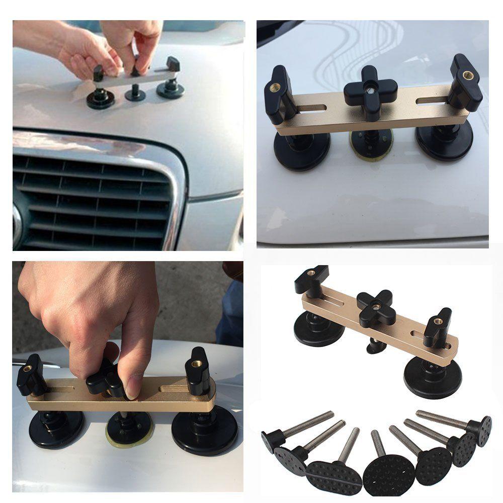 PDR Tools Kit Latest Bridge Puller Dent Removal Hand Tool Set For Paintless Dent Repair Tool kit Instruments Ferramentas (Gold)