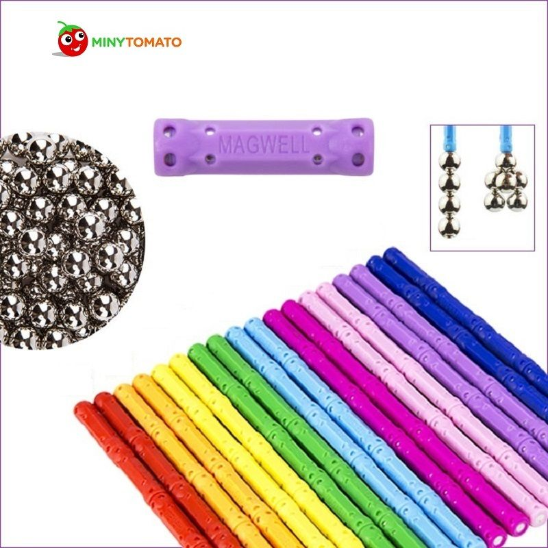 Free Shipping 100 Stick and 60 Ball Child Early Head <font><b>Start</b></font> Training puzzle Amazing Magnetic Building Toy Magnets Magnetic Stick