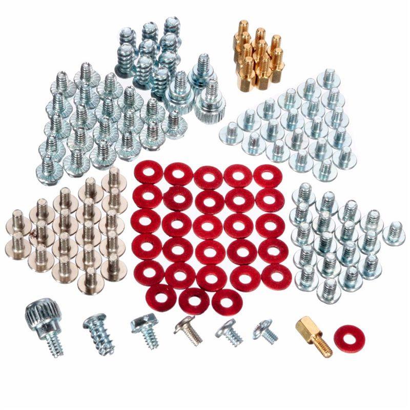 Hight Qualität 134 stücke 8 Arten Computer PC Reparatur Power Motherboard Riser Faser Schraube Unterlegscheibe Werkzeug