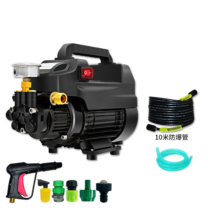 Car washing machine, household high voltage electric car washer, 220V car wash, water gun brush, pump car, portable self suction