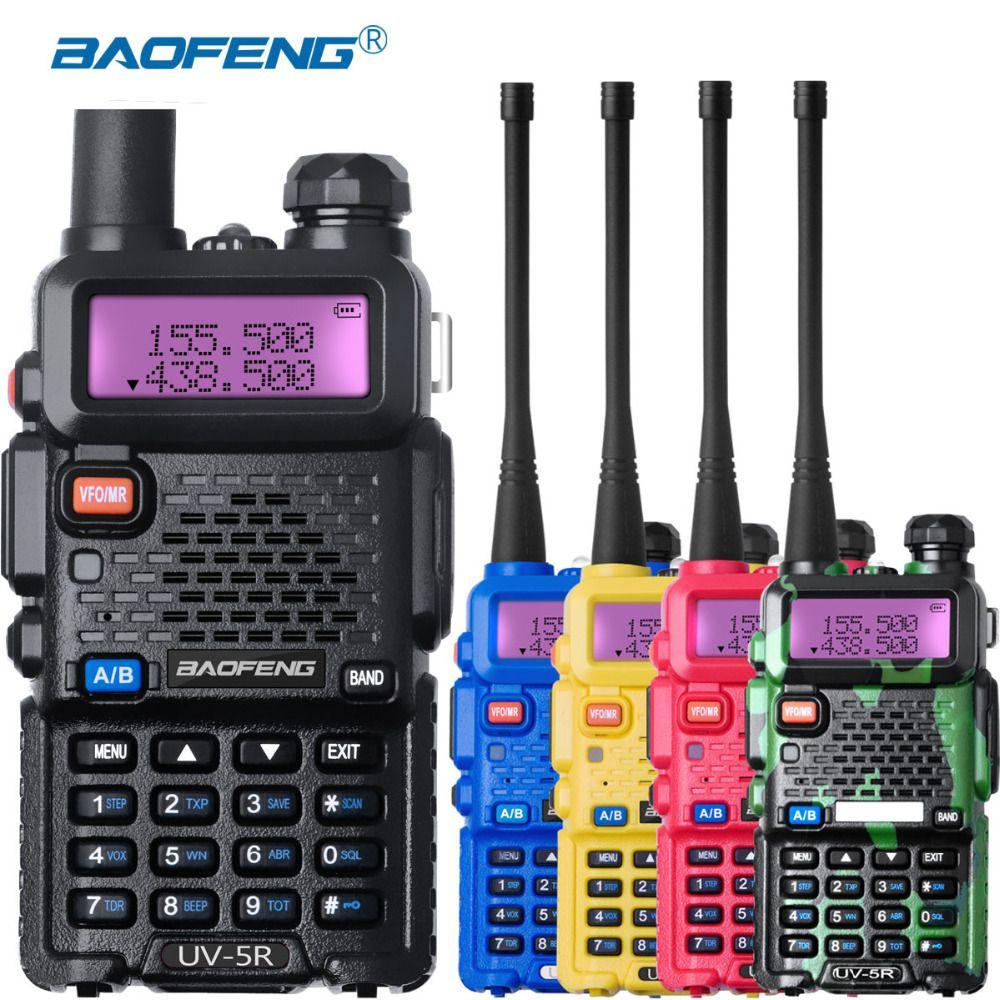 Baofeng UV-5r Radio Station uv5r Talkie Walkie UHF VHF Puissant uv 5r talkie walkie FM 128CH VOX Jambon Radio pour La Chasse Radios ensembles