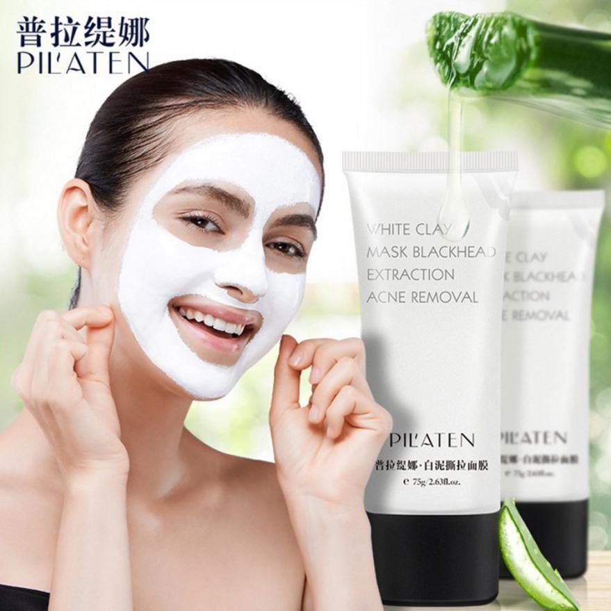 1 PC Femmes Comédons Visage Masque Blanc Boue Nettoyage En Profondeur Purifiant Peel Visage Masque En Gros Dropshipping # F