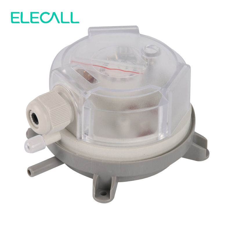 ELECALL High Quality Air Differential Pressure Switch Adjustable Micro Pressure Switch Optional Range 20 ~ 5000 Pa