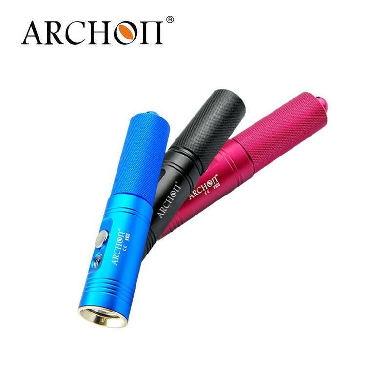 ARCHON V10S IPX-6 Waterproof XM-L U2 MAX 860 LM Professional 3 Color Diving LED Flashlight Torch By 18650 Battery