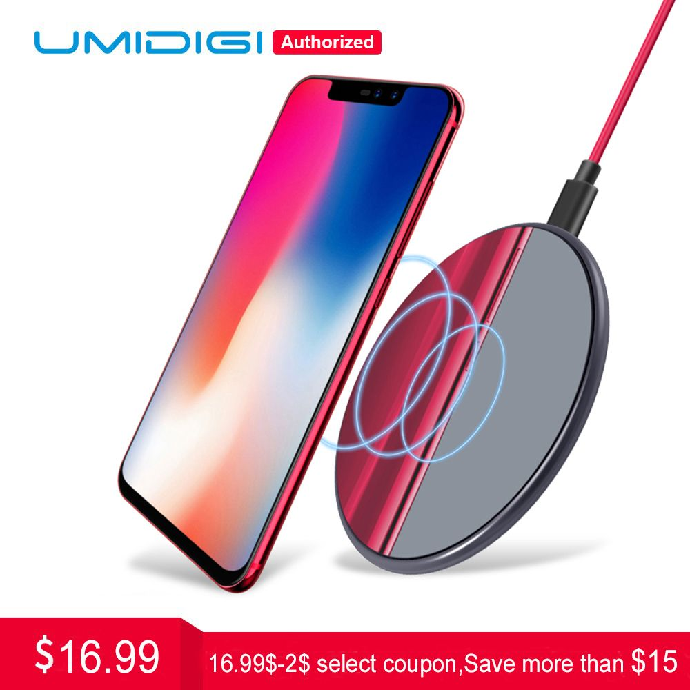 UMIDIGI Q1 Wireless fast Charger for Z2 Pro Samsung Galaxy S9 S8 S7 Wireless Charger for iPhone 8 X 8 Plus Wireless Charging Pad