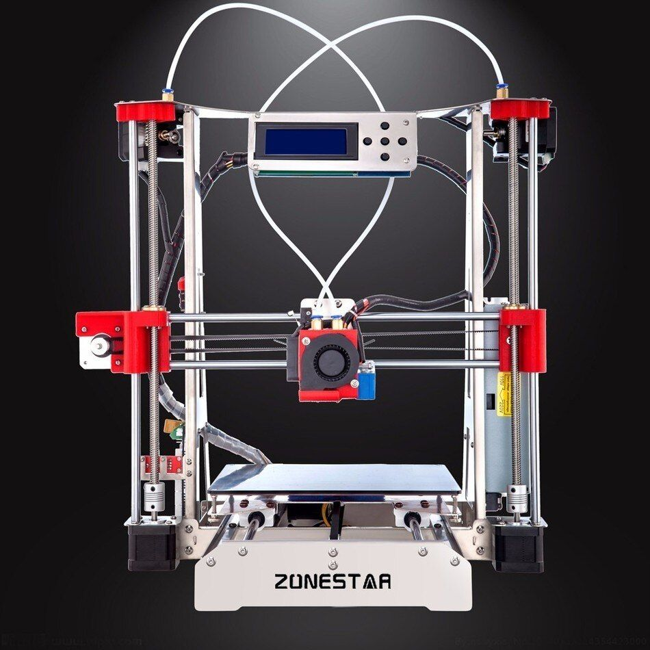 Free Shipping Auto Leveling Easy assemble Full Metal Reprap i3 3D Printer DIY Kit Dual Extruder Filament Run-out Detection