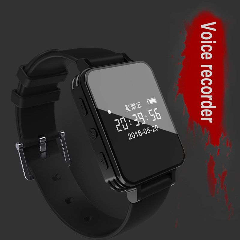 Digital Voice Recorder Watch Audio Recorder Dictaphone Sport Wearable Wrist band Pedometer Waterproof 8G Recording Mini MP3