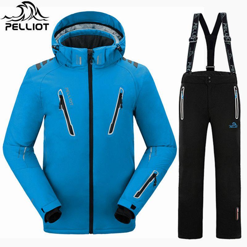 Pelliot Snowboarden Anzüge Männer Skianzug Wasserdicht 10000 Ski Jacke Snowboard Hosen Super Warm Atmungsaktiv Winter Anzug