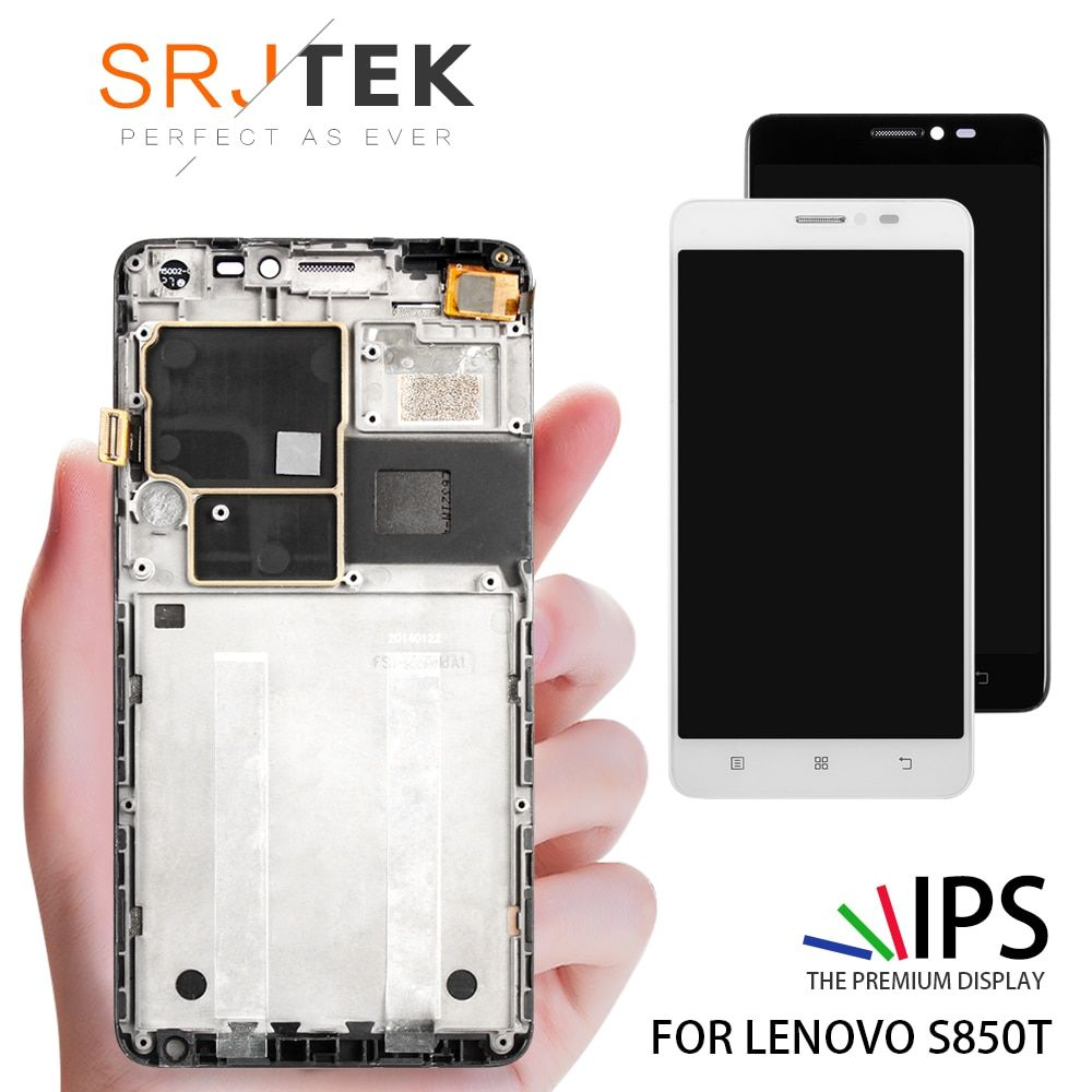 100% Tested 5.0 Inch Display For LENOVO S850T LCD Display Touch Screen With Frame Replacement Parts For LENOVO S850 Display