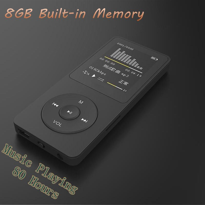 New 8GB mp4 80 Hours <font><b>Music</b></font> playing lossless MP4 player 1.8 TFT screen MP4 with E-book video photo FM radio voice recorder Clock