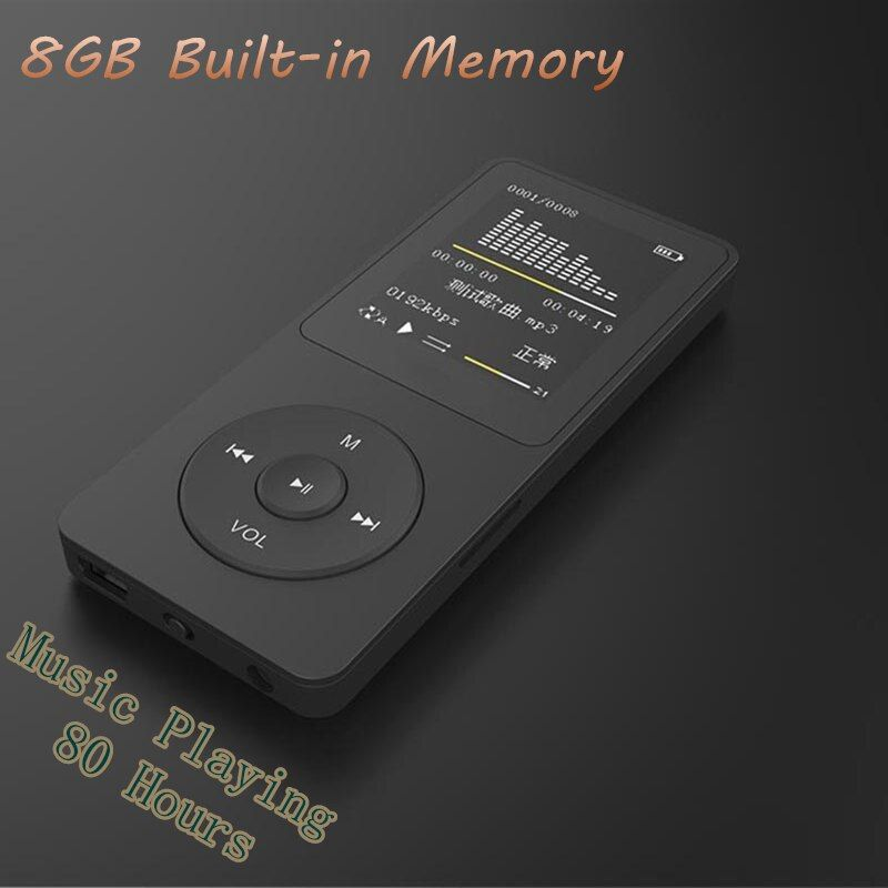 New 8GB mp4 80 <font><b>Hours</b></font> Music playing lossless MP4 player 1.8 TFT screen MP4 with E-book video photo FM radio voice recorder Clock