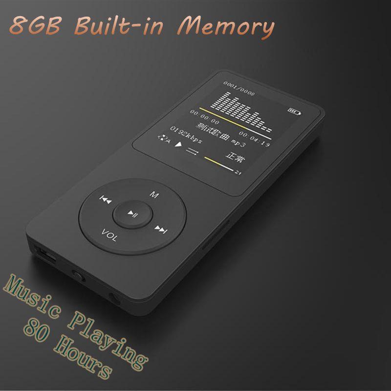Nouveau 8 GB mp4 80 heures de musique jouant lecteur MP4 sans perte 1.8