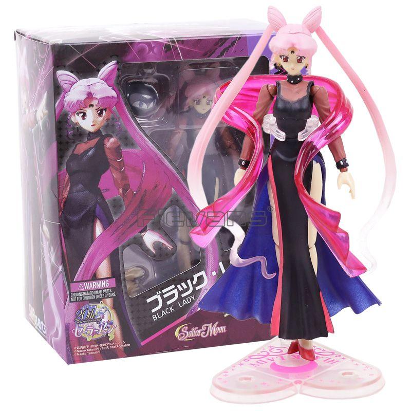 SHFiguarts Sailor Moon Black Lady with Luna PVC Action Figure Collectible Model Toy