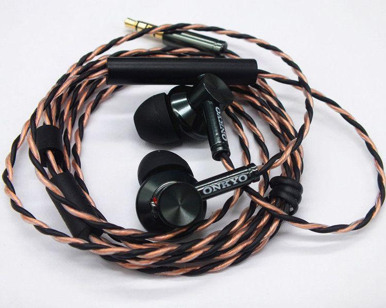 Original ONKYO E700M isolation du bruit dans l'oreille écouteur casque Hifi Super basses bouchons d'oreilles avec micro et télécommande pour tous les smartphones