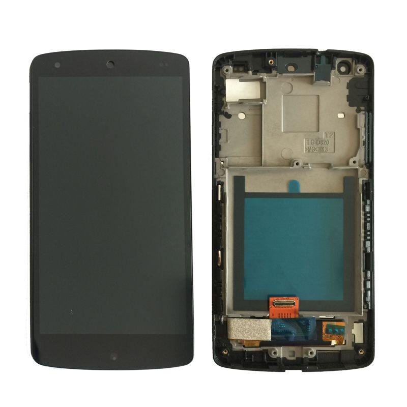 Original lcd Für LG Google Nexus 5 D820 D821 LCD Display mit Touchscreen und Rahmen Digitizer Assembly kostenloser versand