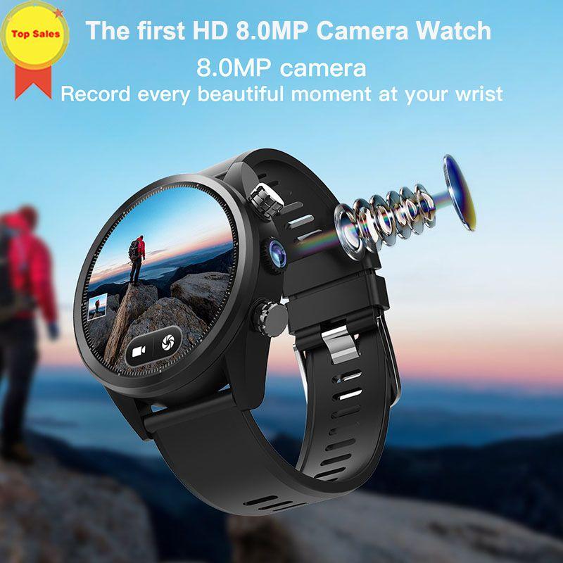 2019 neue Android smart watch 8MP Kamera MTK6739 3G + 32G 1,39 ''AMoled sim Karte GPS uhr sport männer 4G WIFI business Smartwatches
