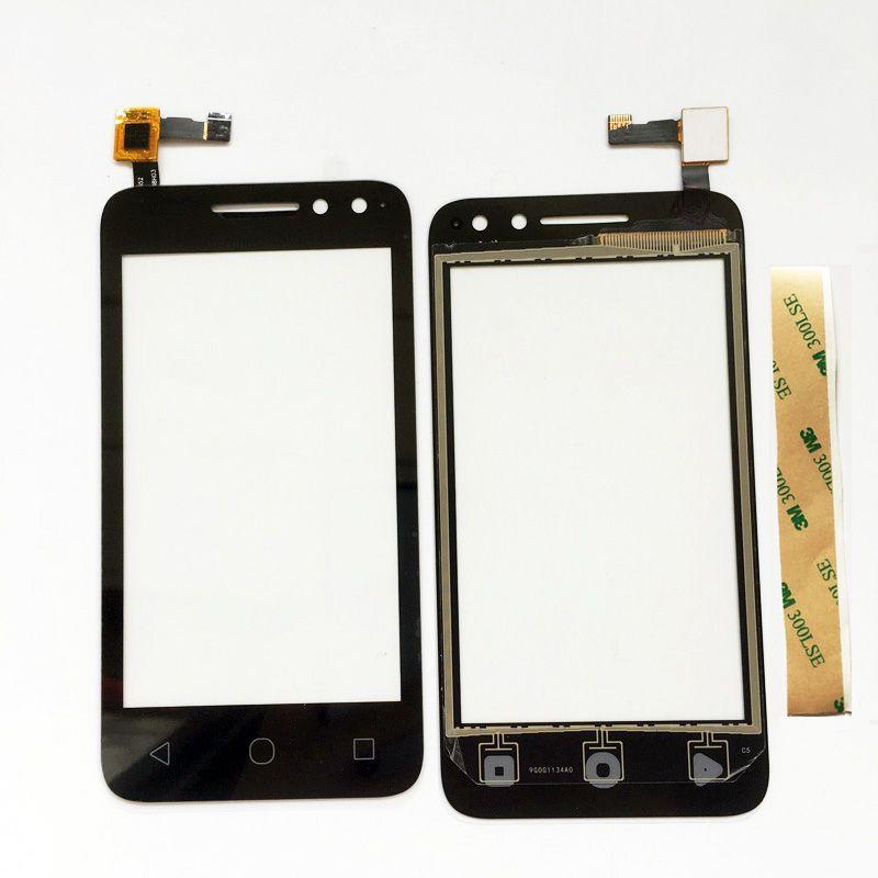 Touch Screen For Alcatel One Touch OT 4034 4034D 4034A 4034E OT4034 OT-4034 Pixi 4 Touch Screen Glass Panel + 3M Tape