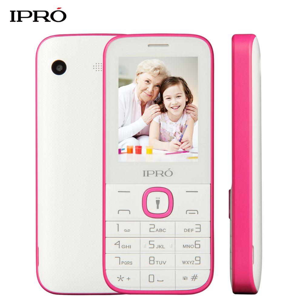Original IPRO I324F 2.4 inch Push-Button Unlocked Mobile Phone 1000mAh Dual SIM GSM Cheap Phone Russian Language For Elders Kids