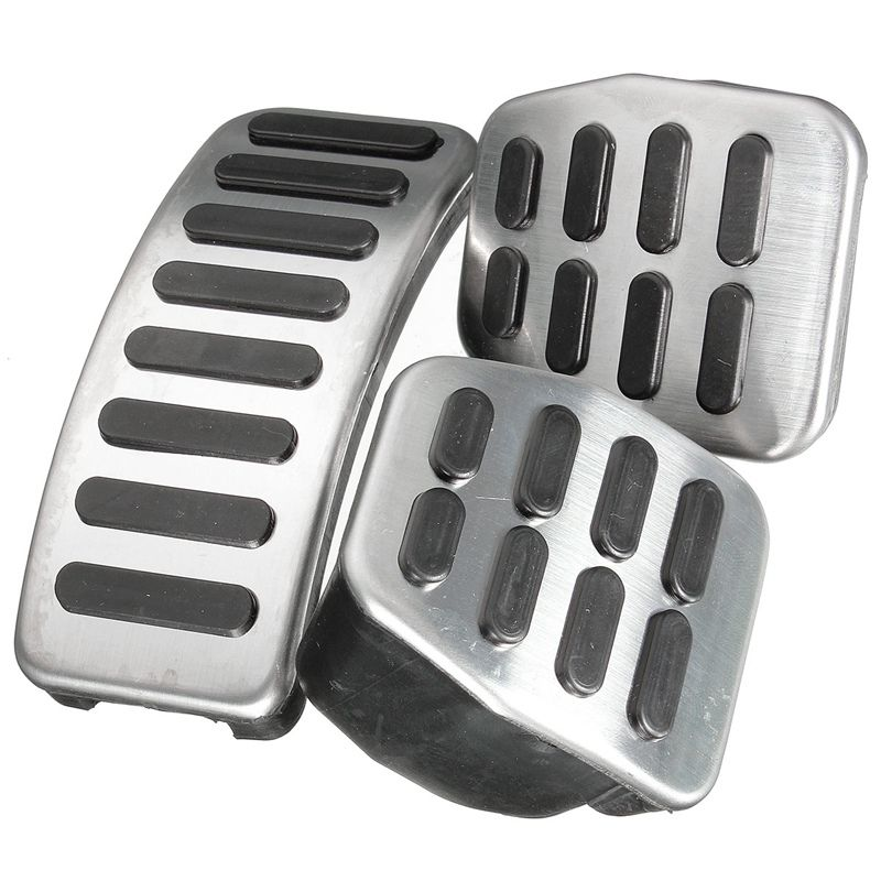 3Pcs/Set Brand New Universal Stainless Steel MT Pedal Pads For VW Polo For Jetta MK4 For Bora Golf MK4 High Quality Car Diy
