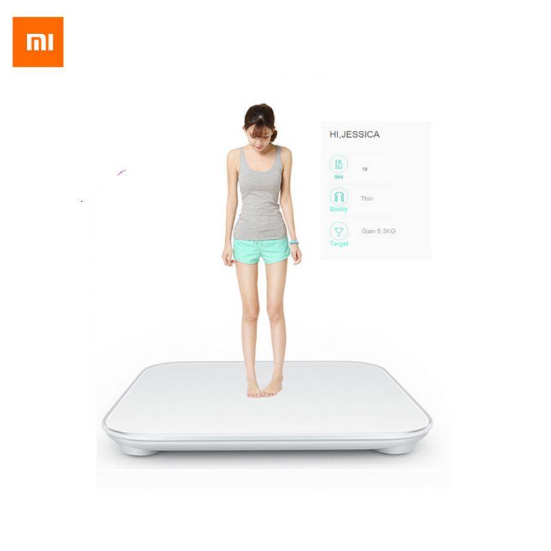 100% D'origine Xiaomi Échelle Mi Smart Santé Pesant MiScale Électronique Bluetooth4.0 Perdre Du Poids Numérique Échelle Blanc