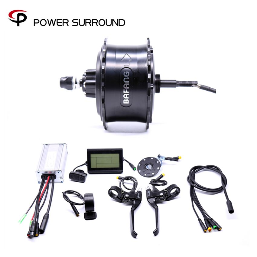 2018 Rushed Waterproof 48v750w Bafang FAT Rear Electric Bike Conversion Kit Brushless Motor Wheel with EBike system