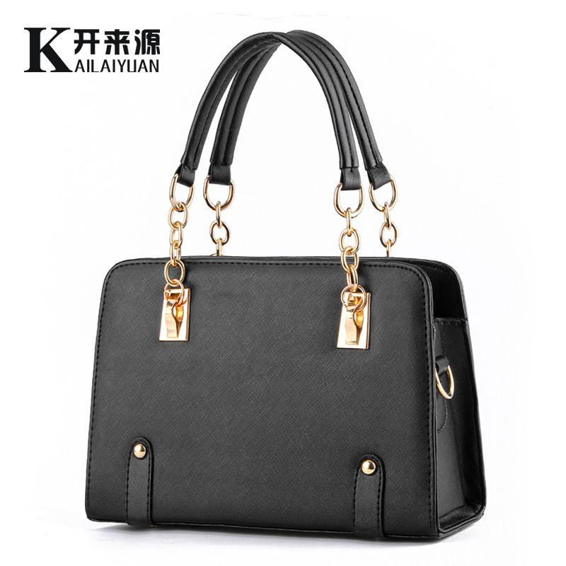 KLY 100% Genuine leather Women handbags 2018 New wave of female chain bag fashion handbags shoulder bag Messenger a generation