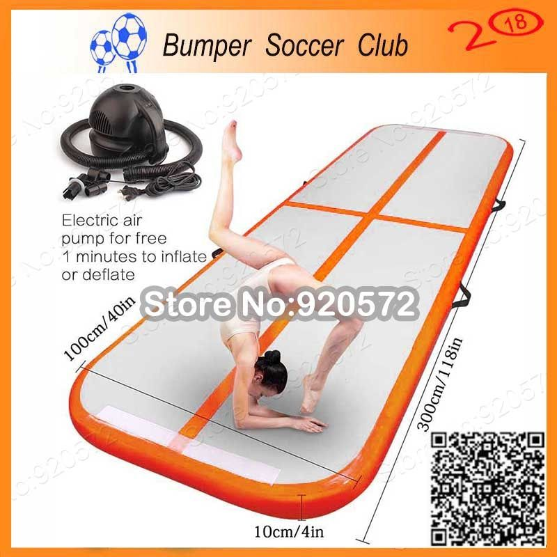 Free Shipping Free One Pump Air track Type 3x1x0.1m Mini Black Inflatable Airtrack For Gym