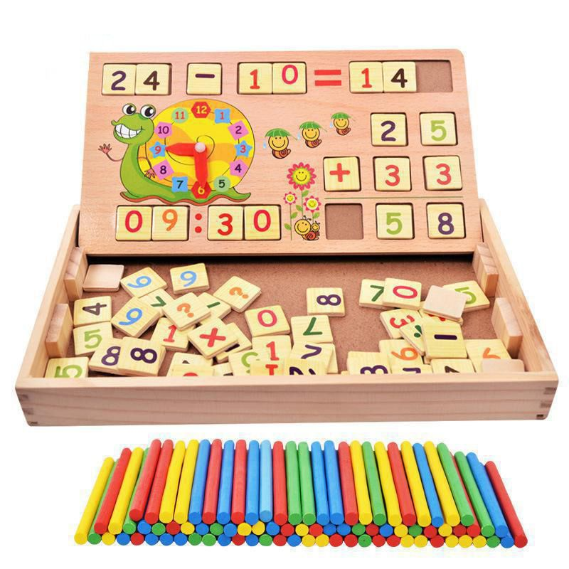 BOHS Montessori Teaching Aids Multifunctional Math Operation and Drawing Box <font><b>Learning</b></font> Preschool Early Childhood Educational Toys