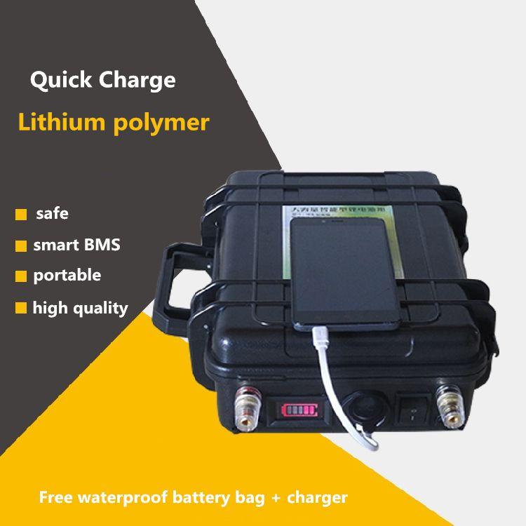 High power 12 V 60AH-200AH INR dynamische li-polymer lipo USB Batterien Für boot motor/solar panel Notstromquelle