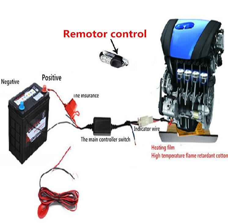 premium Heater Fan Engine Preheating Heating Car Auto Heater Fan For oil heater from Engine for any car styling 12V universal