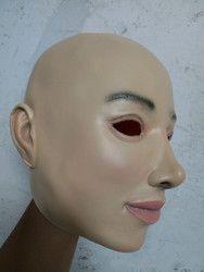 Kualitas Super Wanita Lateks Topeng Masquerade Masker Cosplay Wajah Penuh Masker Kostum Halloween Mask