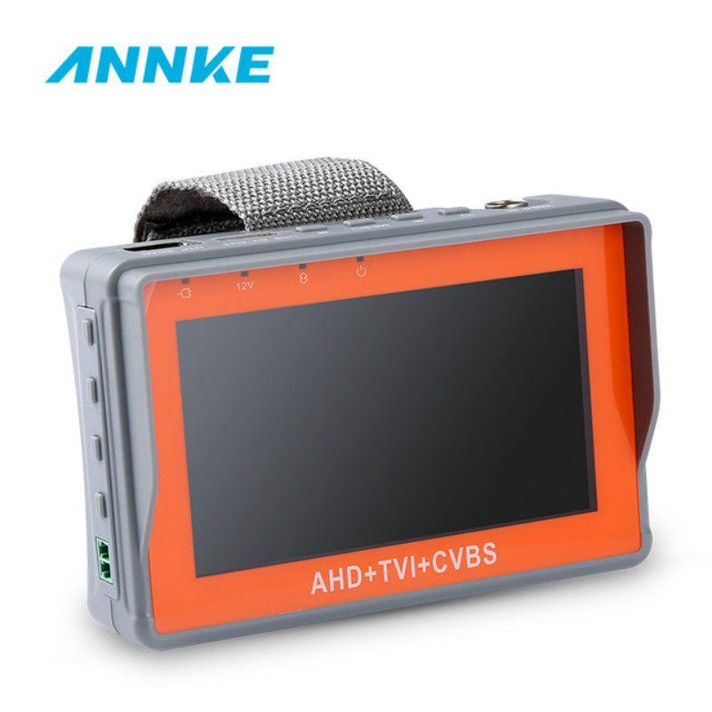 ANNKE 4,3 zoll HD AHD TVI Anlalog CVBS CCTV Tester Monitor 1080 p Analog Kamera PTZ UTP Kabel Tester DC12V1A ausgang