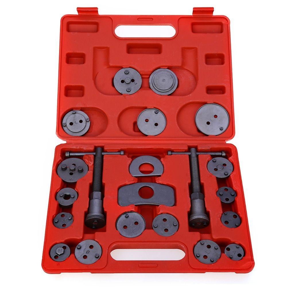 21pcs Carbon Steel Car Disc Brake Caliper Rewind Back Brake Piston Compressor Tool Kit Set For Automobiles Garage Repair Tools