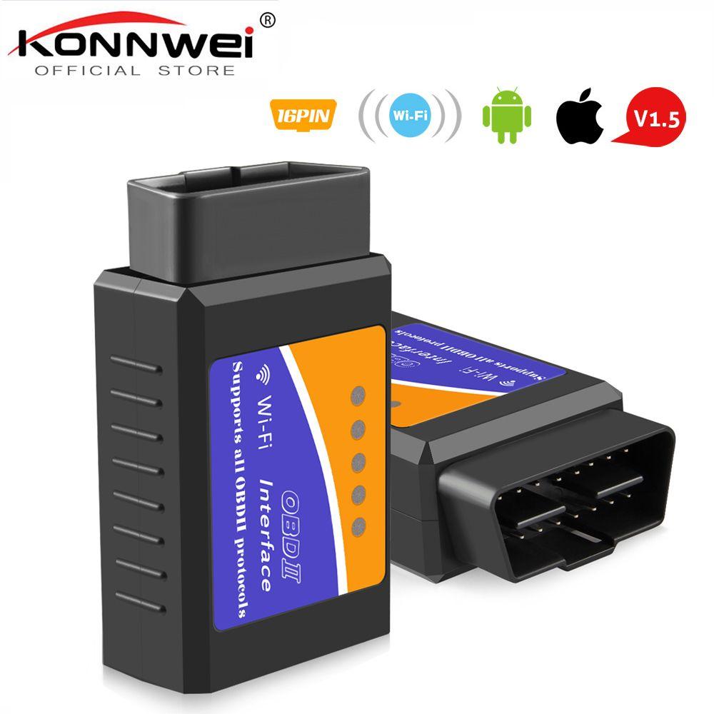ELM327 Wifi V1.5 PIC18F25K80 lecteur de Code à puce ELM 327 OBD 2 Scanner automatique pour IOS Android ELM 327 V1.5 WI-FI ODB2 outil de Diagnostic