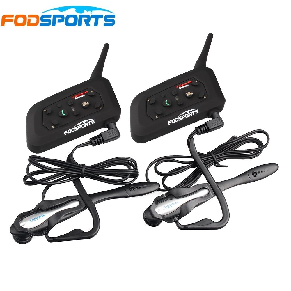 2 pcs V6 Pro BT Interphone Wireless Bluetooth Headset <font><b>Intercom</b></font> Suit for Football Referee Judge Bicycle Conference Stereo music