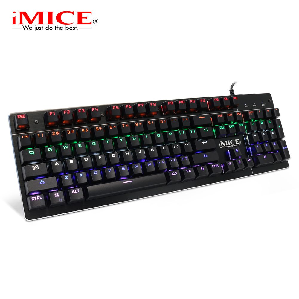 iMice Mechanical Keyboard Blue Switch Gaming Keyboard with Backlight 104 Keys Wired Backlit Gamer Keyboards for Computer Game