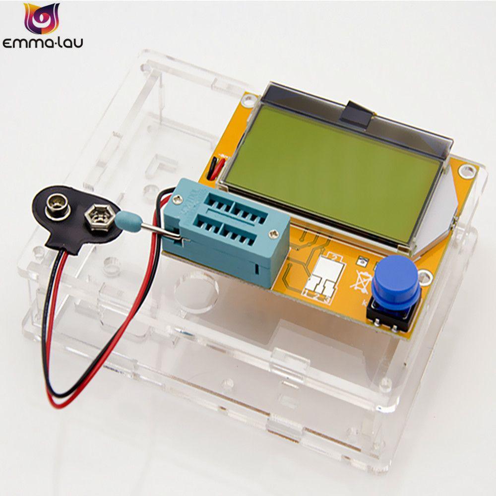 Original LCR-T4 ESR Meter Transistor Tester Digital Mega328 M328 Lcr Diode Triode Capacitance Test Multimeter + Matched Shell