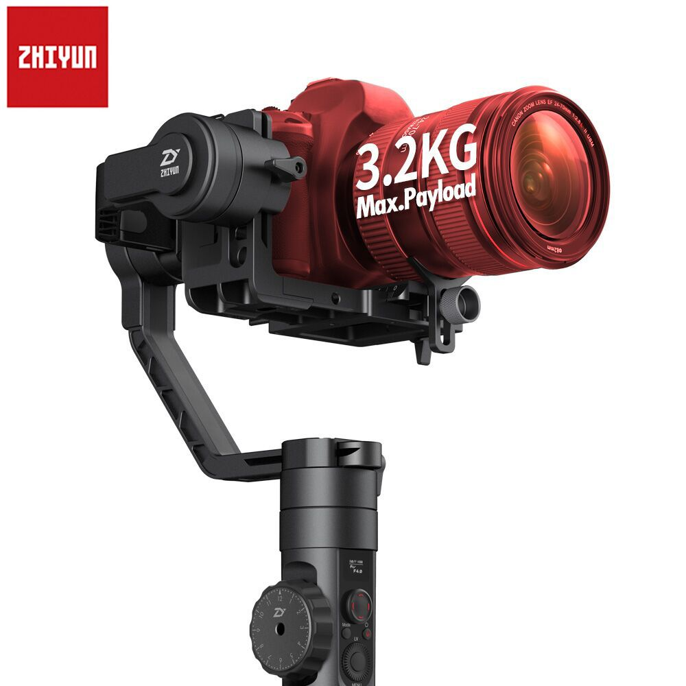 Newest Zhiyun Crane 2 3-Axis Handheld Gimbal Video Camera Gyro Stabilizer for DSLR with Follow Focus 3.2Kg Payload OLED Display