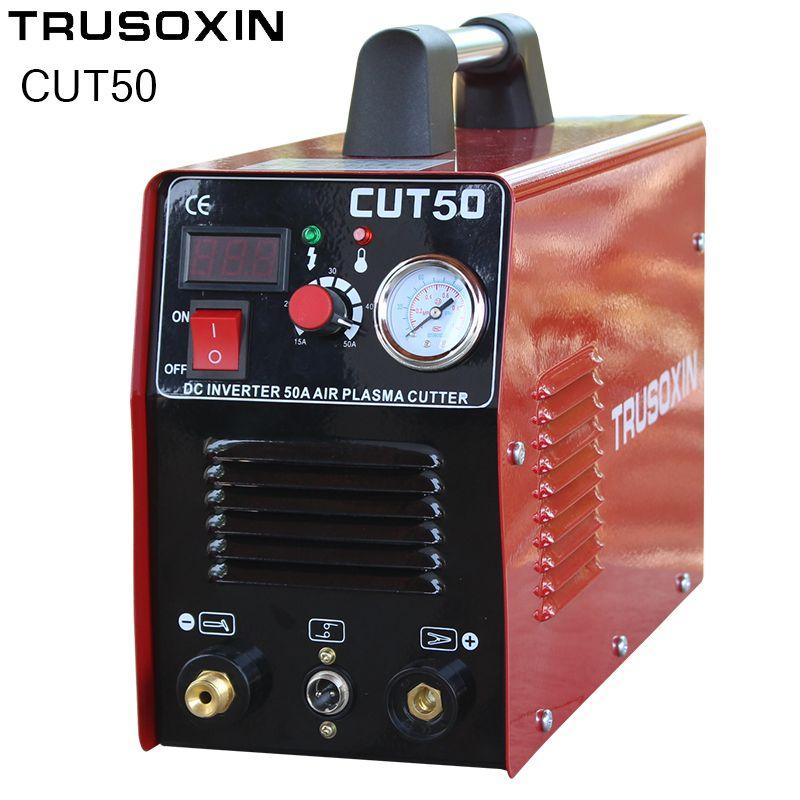 220V/110V Dual Power 50A Mosfet Inverter DC Plasma Cutter Air Plasma Cutting Machine Plasma Cut Tools Cutting Equipment