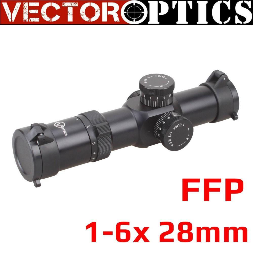 Vector Optics Apophis 1-6x28 FFP 35mm Tactical AR15 Compact Rifle Scope MP MOA Reticle