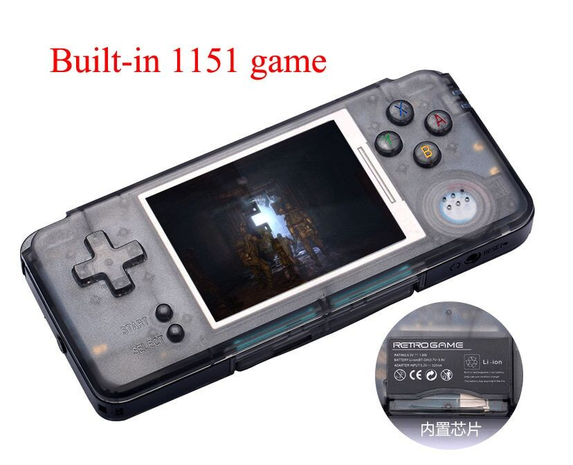 coolbaby RS-97 RETRO Handheld Game Console Portable Mini Video Gaming Players MP4 MP5 Playback Built-in1151 gamesChildhood Gifts