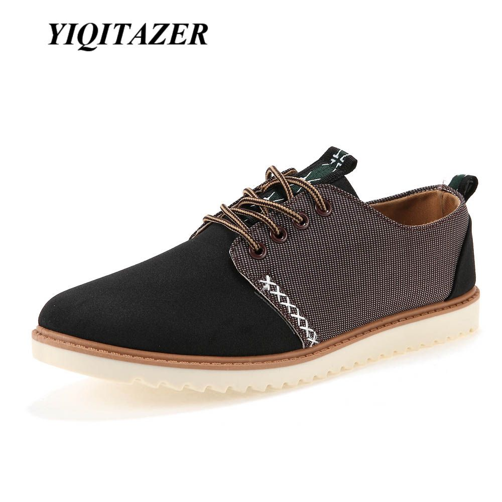 YIQITAZER 2017 Hot Sale Summer Cool Men Shoes Breathable,Suede Fashion Lace up Male Super Cheap China Casual Man Shoes