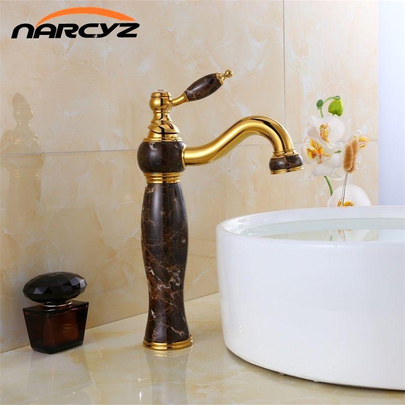 Livraison gratuite de luxe nouveau marbre naturel décoration salle de bains lavabo navire évier mélangeur robinet XT-1005