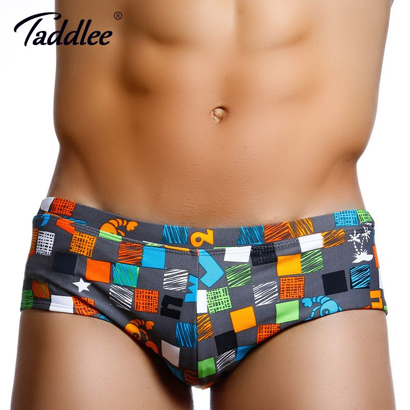 Taddlee Brand 2017 New Sexy Men Swimwear Swim Briefs Bikini Swimming Board Surf Boxer Trunks Bathing Suits Swimsuits Gay XXL