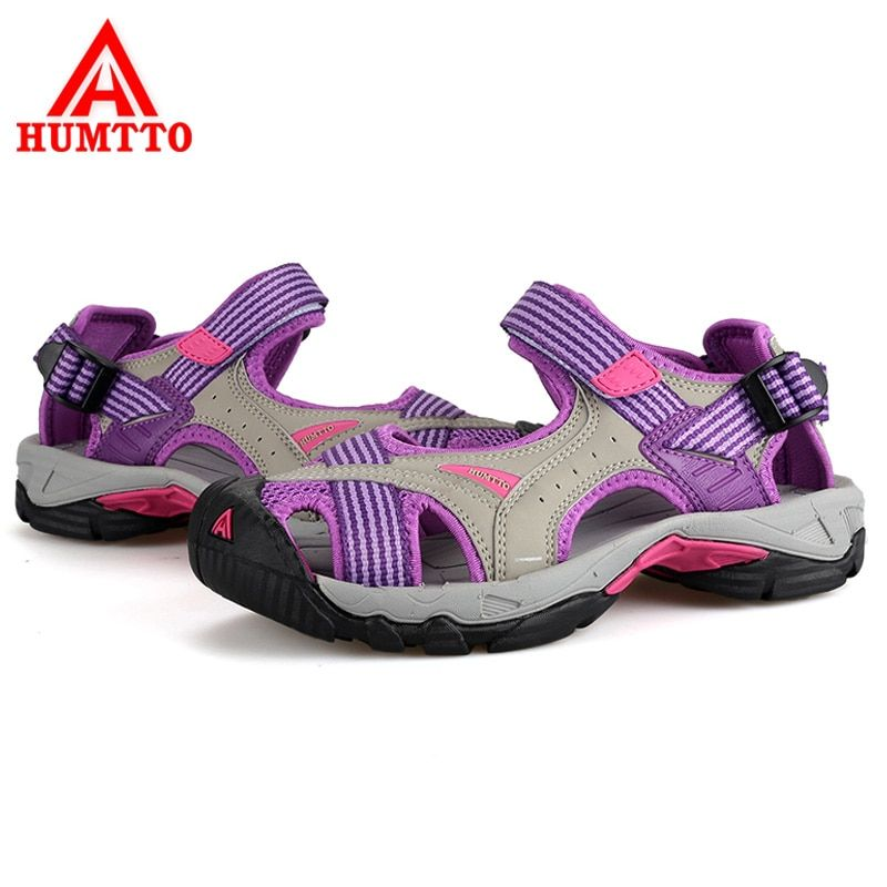 HUMTTO Women Sandals Aqua Shoes Outdoor Beach Anti-Slipping Breathable Sports Sandals Quick-Drying Water Walking Upstream Shoes