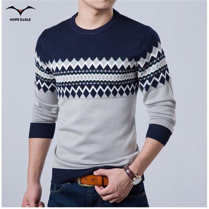 Новинка 2017 года осень модный бренд свитер для повседневной носки О-образным вырезом Slim Fit Вязание Для мужчин S Свитеры для женщин и Пуловеры ...