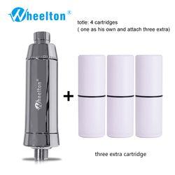 Wheelton SPA de Bain Éliminer Le Chlore Filtre À Eau Purificateur Filtration De Douche Doux L'eau Joindre Supplémentaire 3 Cartouches