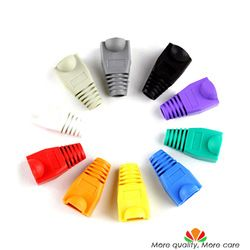 Eco-friendly RJ45 crystal head sheath ethernet cable protective casing A variety of colors random Batch Mixing Send 100pcs/bag